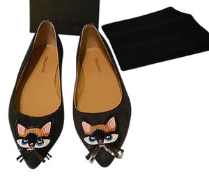 Dsquared2 Kitty Whimsical Lovely Navy Flats