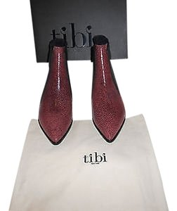 Tibi Philipa High Design Upper Red/Black Boots