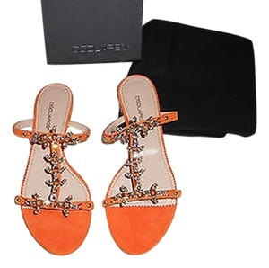 Dsquared2 Crystal Encrusted Arancio Sandals