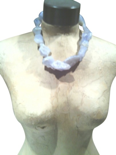 Other Raw Blue Lace Agate necklace choker