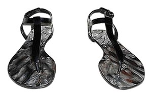 Casadei Softymetal Cracked Design Shimmer Quality Nero Sandals