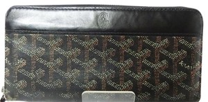 Goyard Goyard Zip Around Long Wallet Black PVC / Calf Leather
