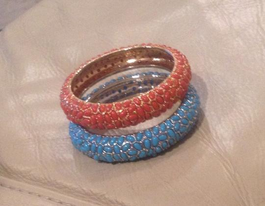 Other Iman Bangle Bracelets In Coral And Blue