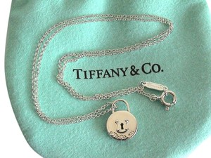 Tiffany & Co. Tiffany & Co. Sterling Silver Round Mini Lock Pendant Necklace 16