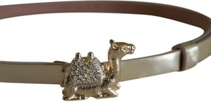 Kate Spade Kate Spade Rock the Casbah Gold Leather Belt with Gold Plated Camel