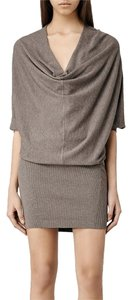 AllSaints short dress Mist Marl Sweater All Saints on Tradesy
