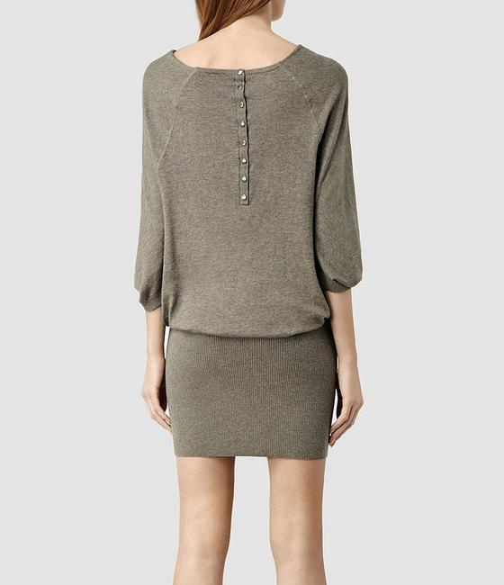 AllSaints short dress Mist Marl Sweater Cowl Neck on Tradesy