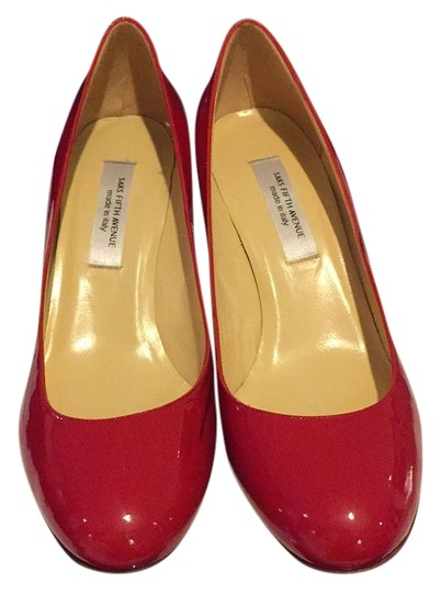 Preload https://item5.tradesy.com/images/saks-fifth-avenue-red-patent-leather-pumps-size-us-10-regular-m-b-9716509-0-1.jpg?width=440&height=440