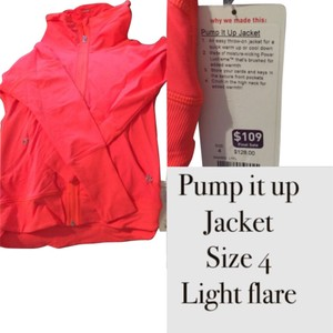 Lululemon NWT Lululemon Pump it Up Jacket size 4 Light Flare