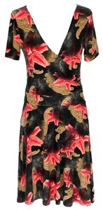 Maxi Dress by Romeo & Juliet Couture Floral Print V-neck