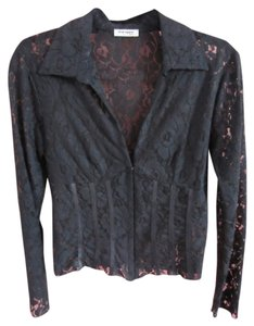 Sharagano Paris Lace Top black