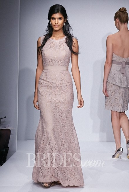 Item - Blush Lace with Bronze Lining 5220- Andrea Formal Bridesmaid/Mob Dress Size 8 (M)