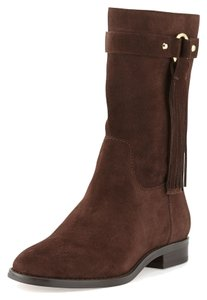 Michael Kors Goldaccents Midcalf Suede Brown Boots