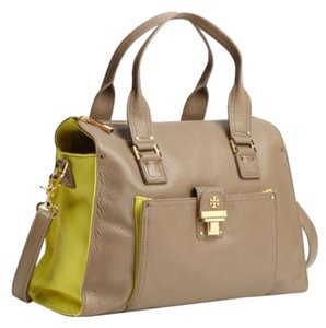 Tory Burch Satchel in Clay / Highlighter Yellow