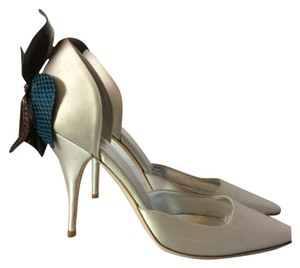 Mary Norton Silver Pumps