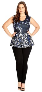 City Chic Peplum Print Plus Tunic