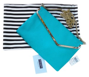 Henri Bendel Stingray Aqua turquoise Clutch