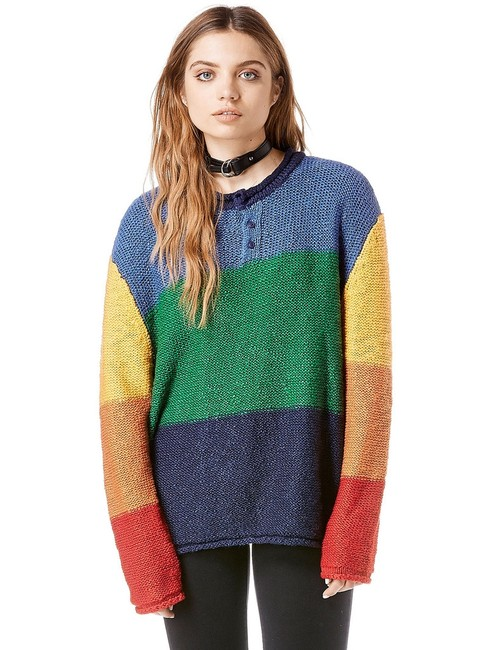 UNIF Colorblock Knit Sweater