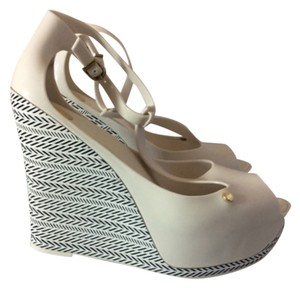 Melissa White Wedges