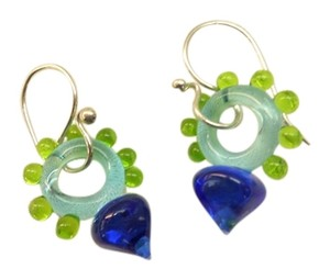 Anthropologie glass bead earrings