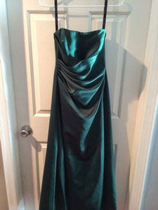 Alfred Angelo Hunter Green Bridesmaid Dress Dress