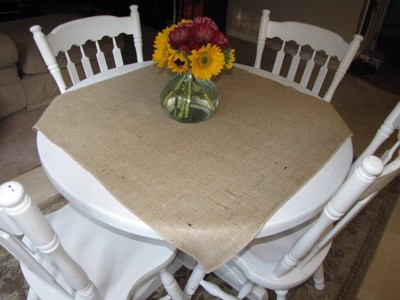 wedding decorations with burlap burlap table overlay for cake table or small table 9167
