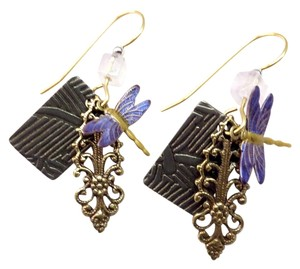 Anthropologie dragonfly layered earrings