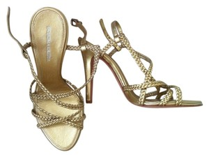 BCBGMAXAZRIA Metallic gold Sandals