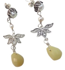 Anthropologie fresh water pearl dangle earrings