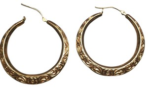 SOLID 14karat GOLD HOOP EARRINGS