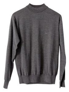 Emporio Armani Merino Wool Mock Turtleneck Menswear Sweater
