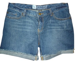 Mossimo Supply Co. Jean Denim Boyfriend Distressed Cut Off Shorts Blue