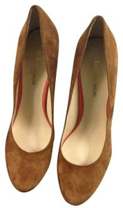 Enzo Angiolini tan and orange Pumps