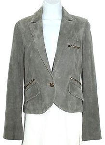 Morphine Generation Suede Jacket Leather Jacket Grey Blazer