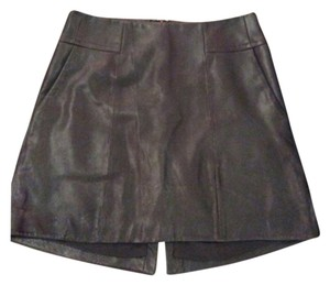 Theory Mini Skirt Black leather