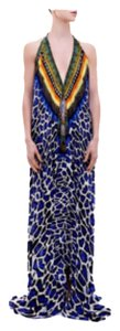 Multi Maxi Dress by Shahida Parides Animal Print Resort Kaftan Maxi