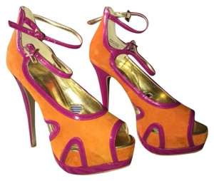 ALDO Orange/fuscia Platforms