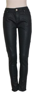 Velvet Heart Coated Stretchy Skinny Jeans-Coated