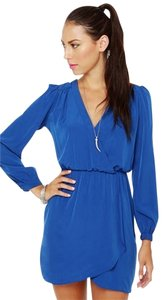 Honey Punch short dress Blue Mini Wrap on Tradesy