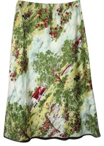 Gap Silk Skirt GREEN