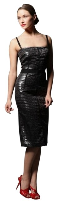 Preload https://item5.tradesy.com/images/dolce-and-gabbana-silverblack-leopard-printed-silk-pleated-knee-length-cocktail-dress-size-6-s-972399-0-0.jpg?width=400&height=650