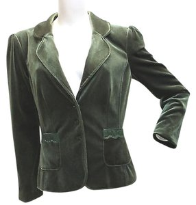 JARED ROSE Velvet Jacket GREEN Blazer