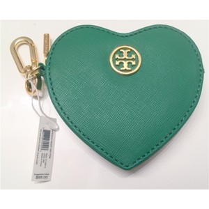 Tory Burch Tory Burch Robinson Heart Zip Coin Purse and Key Chain