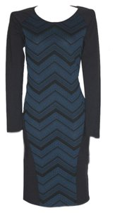 Anthropologie Willow & Clay Chevron Stretch Bodycon Dress