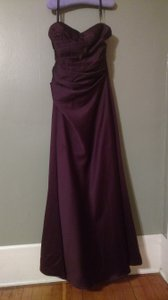 Alfred Angelo Grape Style 7041 Back Bow Detail Designer Bridesmaid Gown Dress