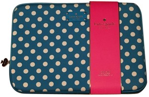 "Kate Spade Kate Spade Universal Macbook Pro 13"" Laptop Case Cover Turquoise Blue with White Polka Dots"