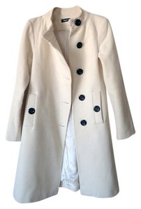 Other Wool Cashmere White Bridal Pea Coat