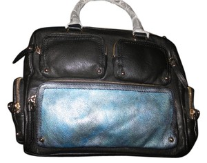 Kate Spade Hand Painted Leather Tie Dye Style Nwt Satchel in Black