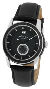Kenneth Cole Kenneth Cole New York Special Edition Round Black Leather Watch $225 NEW IN BOX