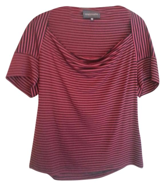 Corey Lynn Calter T Shirt Maroon and Black